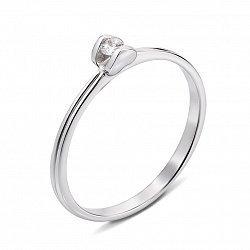 Помолвочное кольцо из белого золота с бриллиантом 000131368