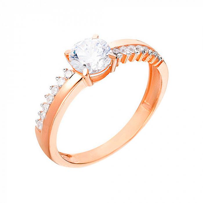 Кольцо из золота с фианитами Пейсли SUF--140333