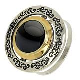 Серебряное кольцо с ониксом Джоконда
