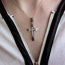 Золотой декоративный крест Мирриам с бриллиантами