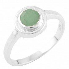 Серебряное кольцо Энн с изумрудом
