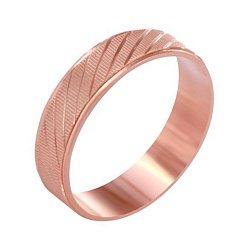 Серебряное кольцо с позолотой Долгожданное счастье с косой насечкой 000039577