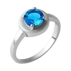 Серебряное кольцо с синтезированным аквамарином 000074416