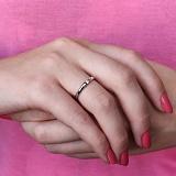 Кольцо из белого золота с бриллиантом Преданность