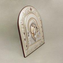 Православная икона Казанская Божья Матерь на основе под дерево, гальванопластика, 16,7х22,4см