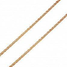 Золотой браслет Шион фантазийного плетения с насечкой, 1,5мм