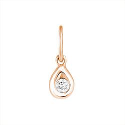 Золотой подвес Капля с кристаллом циркония