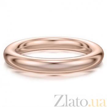 Обручальное кольцо из розового золота Мой милый ангел: Безграничная Любовь 4117