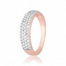 Позолоченное серебряное кольцо с фианитами Жазира