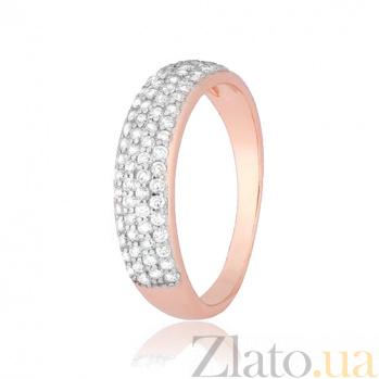 Позолоченное серебряное кольцо с фианитами Жазира 000028411