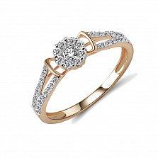 Кольцо из красного золота Донсия с бриллиантами