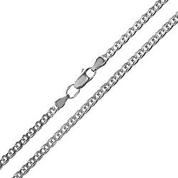 Серебряная цепь Шанти в плетении бисмарк с алмазной гранью, 4,5мм 000018883