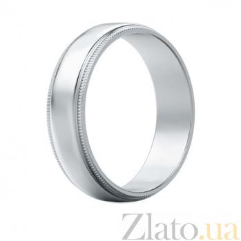 Мужское обручальное кольцо из белого золота Чистое намерение 463