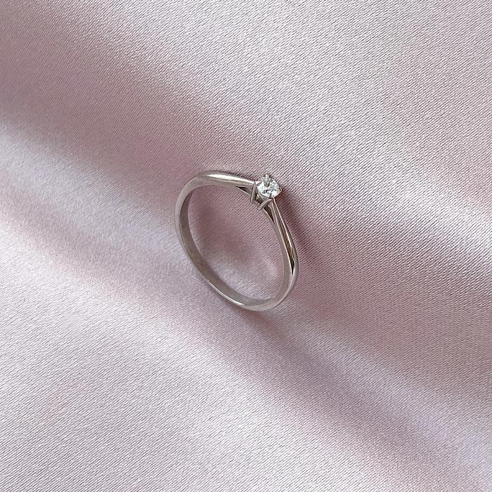 Кольцо из белого золота с бриллиантом 0,2ct 000034582 000034582