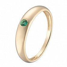Кольцо в желтом золоте Татьяна с изумрудом