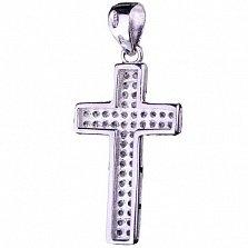 Серебряный крест Вышний Свет с фианитами