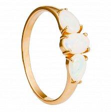 Золотое кольцо Ривьера с опалом