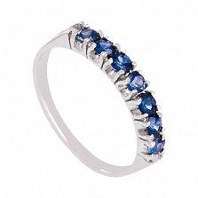 Золотое кольцо в белом цвете с сапфирами Passion