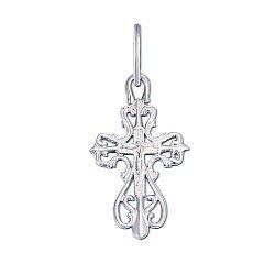 Крестик из белого золота Божественное Благословение 000056924