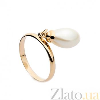 Золотое кольцо с подвеской жемчугом Фатима SG--13136001кап