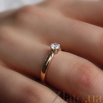 Кольцо из красного золота с фианитом Яркое мгновение 000024271
