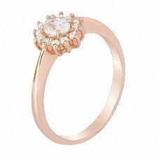 Серебряное кольцо с позолотой и фианитами Джаухар