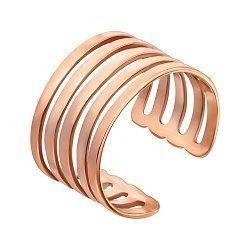 Фаланговое кольцо Игра в красном золоте