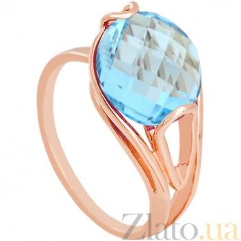 Золотое кольцо с голубым топазом Надира 000024499