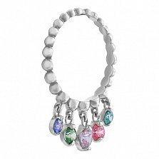 Золотое кольцо Ирма с камнями Swarovski