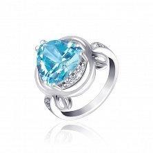 Серебряное кольцо Марица с фианитами