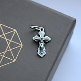 Крестик из серебра с чернением Благодать
