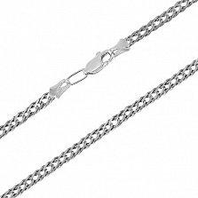Серебряная цепь чернёная Рембо, 6мм