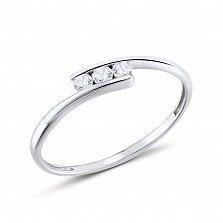 Кольцо из белого золота с бриллиантами Джейн