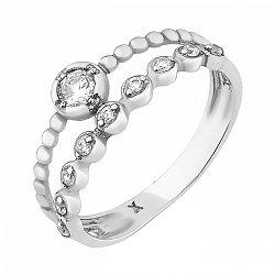 Серебряное кольцо Аганэ с цирконием 000051863