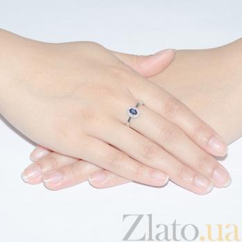 Кольцо из белого золота Мирах с сапфиром и бриллиантами SVA--1190585202/Сапфир