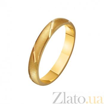 Золотое обручальное кольцо Грация TRF--431224