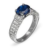 Золотое кольцо с сапфиром и бриллиантами Арлетта
