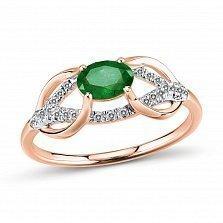 Кольцо Малика из золота с бриллиантами и изумрудом