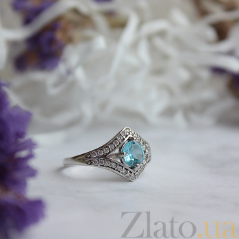 Серебряное кольцо с топазом и фианитами Спарта 1712/9р топаз