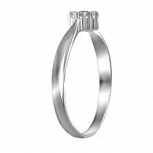 Кольцо из белого золота Жасмин с бриллиантами