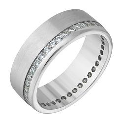 Обручальное кольцо с цирконием Счастливая любовь