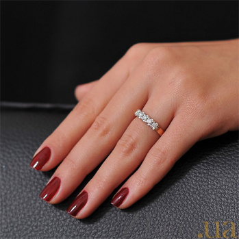 Кольцо из красного золота с бриллиантами Симфония EDM-КД7408