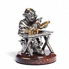 Серебряная статуэтка с позолотой Ростовщик