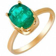 Золотое кольцо Роскошь с изумрудом