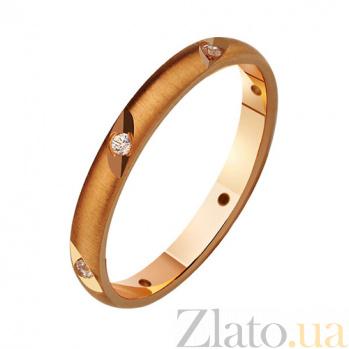 Золотое обручальное кольцо с фианитами Триумф любви TRF--412787
