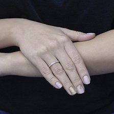 Кольцо из белого золота Леонси с бриллиантами
