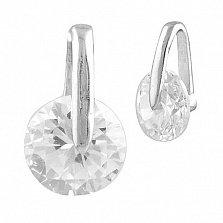 Серербяный подвес Альвина с кристаллом циркония