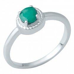 Серебряное кольцо с изумрудом 000074584