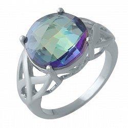 Серебряное кольцо с мистик топазом 000128374