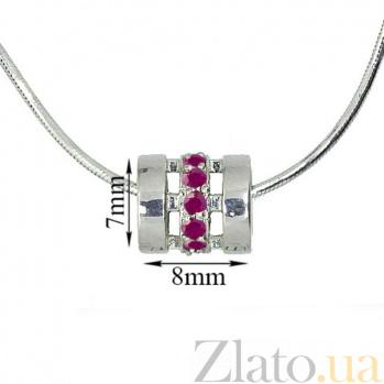 Серебряная подвеска-шарм с рубинами Donze ZMX--PR-6893-Ag_K